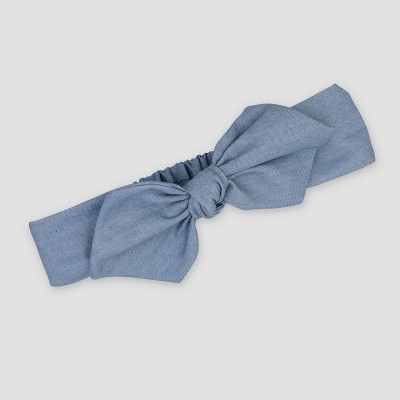 Baby Girls' Chambray Headwrap - Just One You® made by carter's Blue