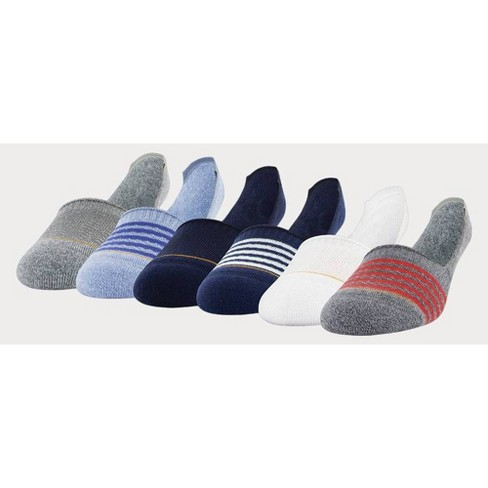Signature Gold by GOLDTOE Men's Modern Essential Invisible Socks 6pk - White/Blue 6-12.5 - image 1 of 4
