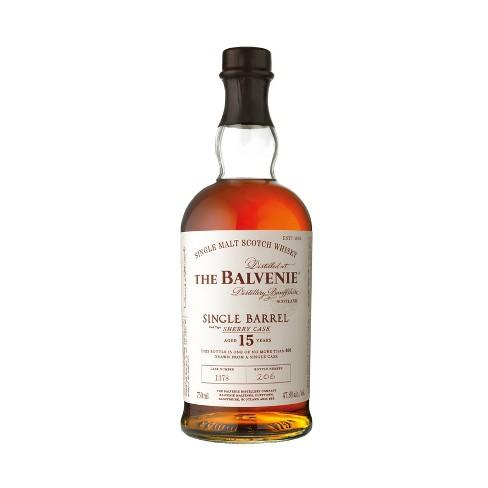 The Balvenie 15yr Single Barrel Sherry Cask Scotch Whisky - 750ml Bottle - image 1 of 1