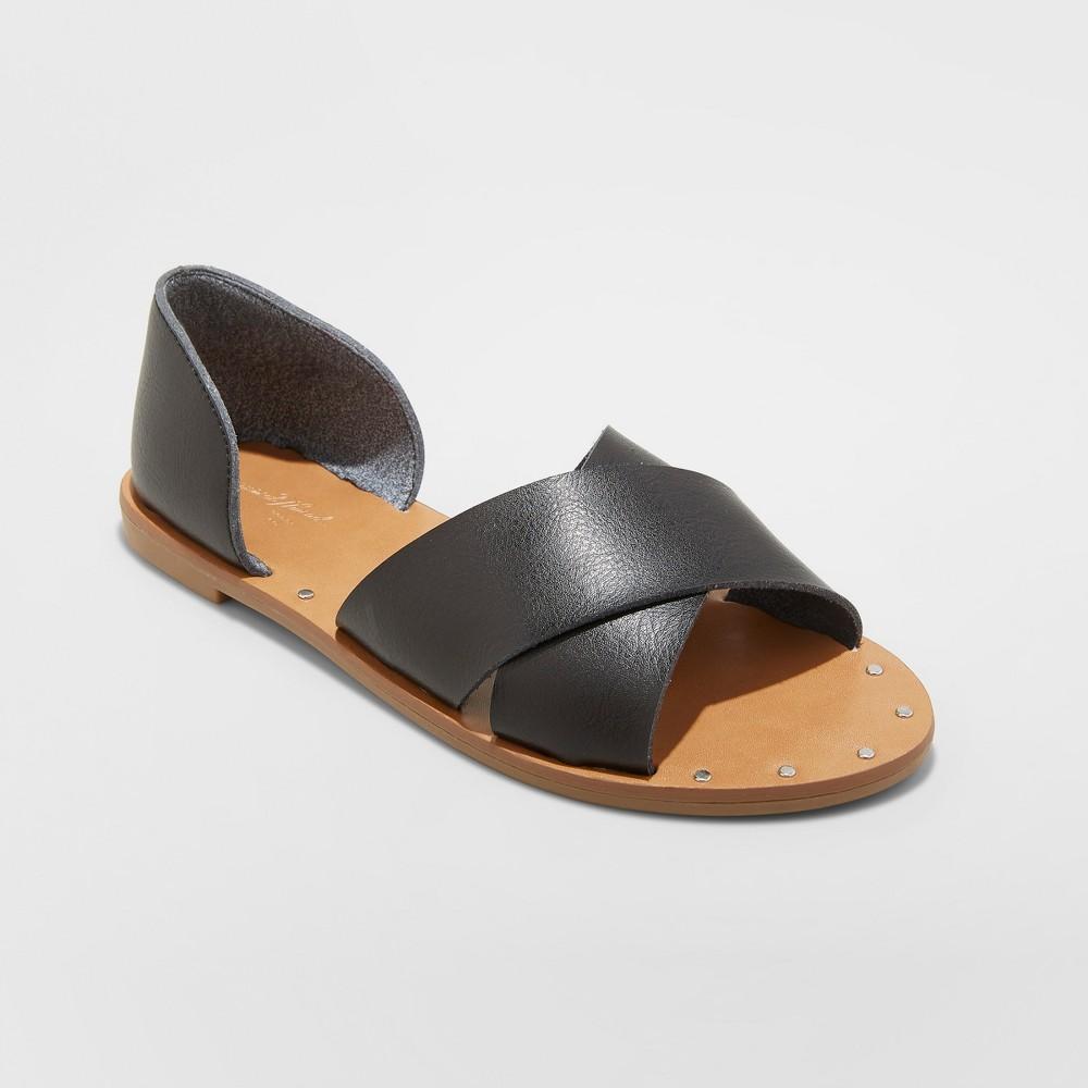 Women's Lois Crossband Sandals - Universal Thread Black 9