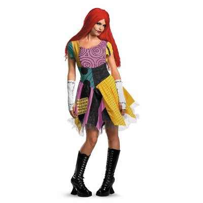 Adult Deluxe Disney Nightmare Before Christmas Sally Halloween Costume Dress
