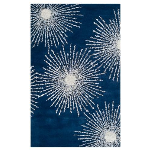 'Amsterdam Accent Rug - Dark Blue / Ivory (3'6'' X 5'6'') - Safavieh , Size: 3'6''X5'6'''