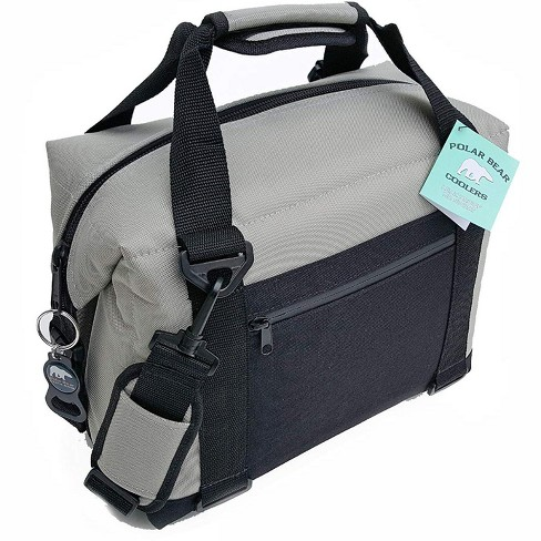 Polar Bear Coolers PB 127 12 Pack Light Nylon Soft Cooler with Strap, Silver - image 1 of 4