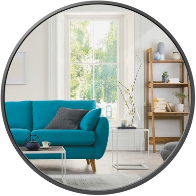 Best Choice Products 36in Framed Round Bathroom Vanity Wall Mirror w/ Anti-Blast Film