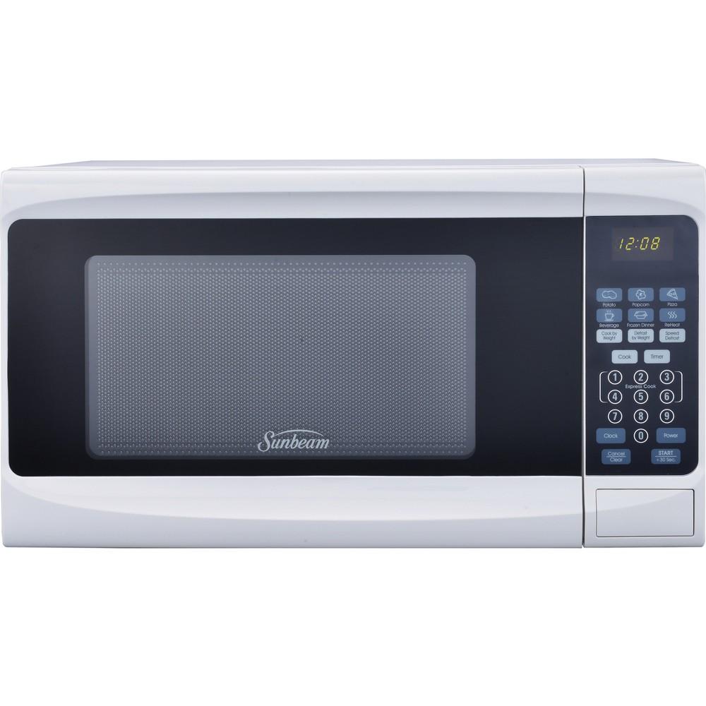 Sunbeam 0.7cu. ft. 700 Watt Digital Microwave Oven White - SGS10701