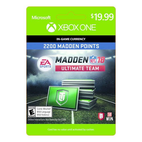Madden NFL 18: Ultimate Team 2200 Madden Points - Xbox One (Digital)