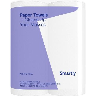 Make-A-Size Paper Towels - 2 Big Rolls - Smartly™