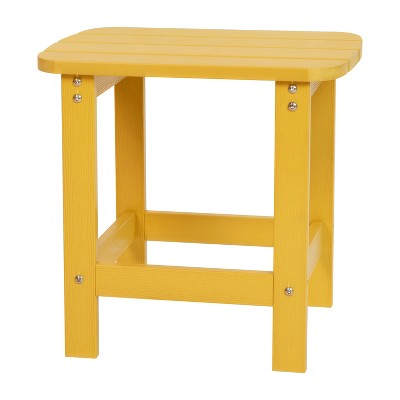 Merrick Lane Poly Resin Indoor/Outdoor All-Weather Adirondack Side Table