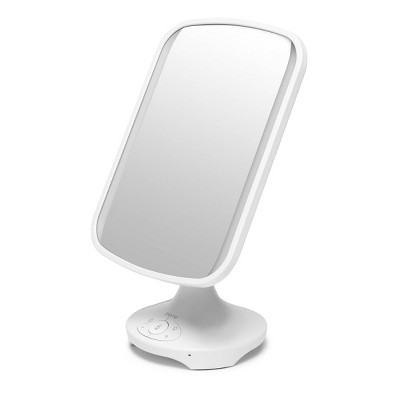 """iHome 7"""" X 9"""" Reflect Lighted LED Vanity Makeup Mirror with Bluetooth Audio"""