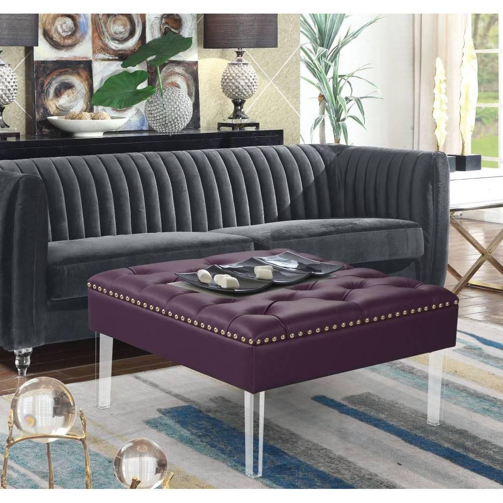 Remi Ottoman Purple - Chic Home Design was $299.99 now $209.99 (30.0% off)