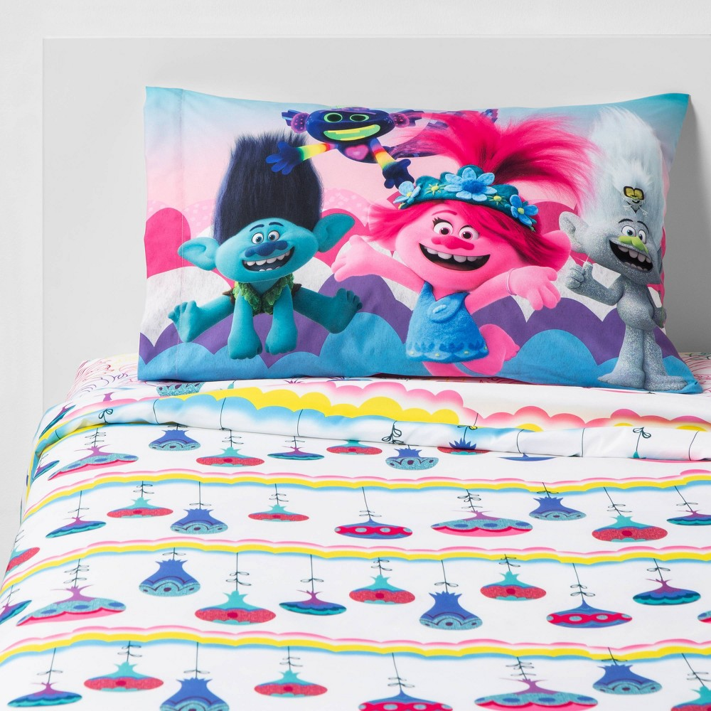 Image of Trolls 2 World Tour Twin Color Your World Sheet Set