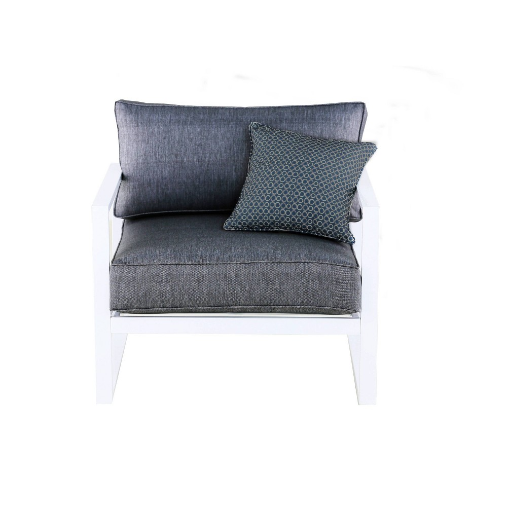 Paloma Outdoor Arm Chair White Adore Decor