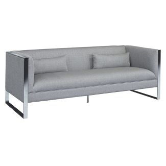 Armen Living Royce Contemporary Sofa Gray