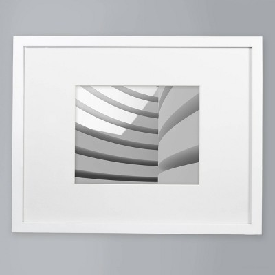 "8"" x 10"" Matted Wood Frame White - Made By Design™"