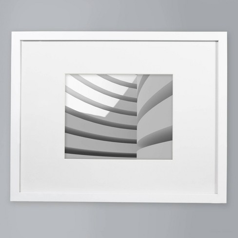 "8"" x 10"" Matted Wood Frame White - Made By Design™ - image 1 of 4"