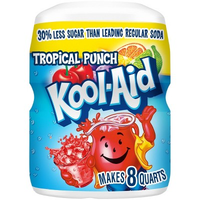 Kool-Aid Tropical Punch Soft Drink Mix - 19oz Canister
