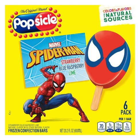 Popsicle Spider-Man Frozen Bars - 6ct - image 1 of 4