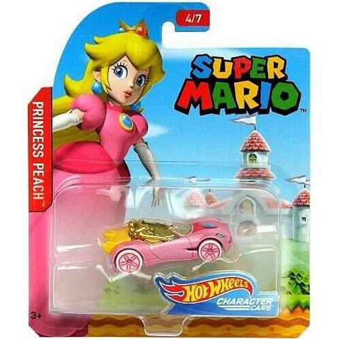 Hot Wheels Super Mario Princess Peach Diecast Car 4 7 Target
