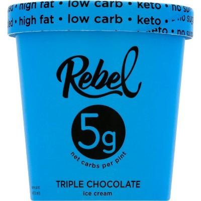 Rebel Ice Cream Triple Chocolate Ice Cream - 16oz