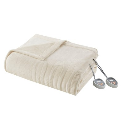 Plush Electric Blanket (Full)Ivory - Beautyrest