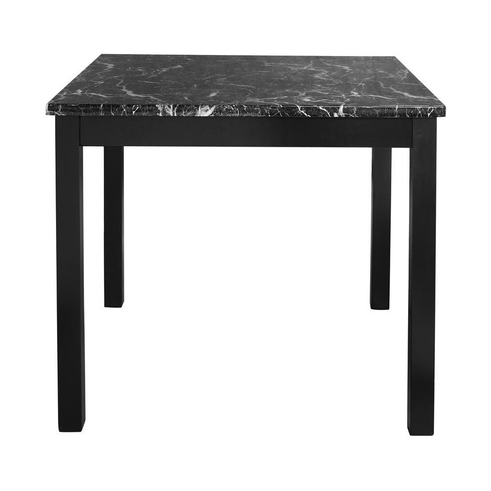 Image of 3pc Faux Marble Counter Height Dining Set - Black - Dorel Living