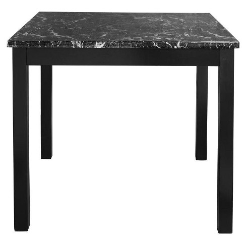 Faux Marble Counter Height Dining Set