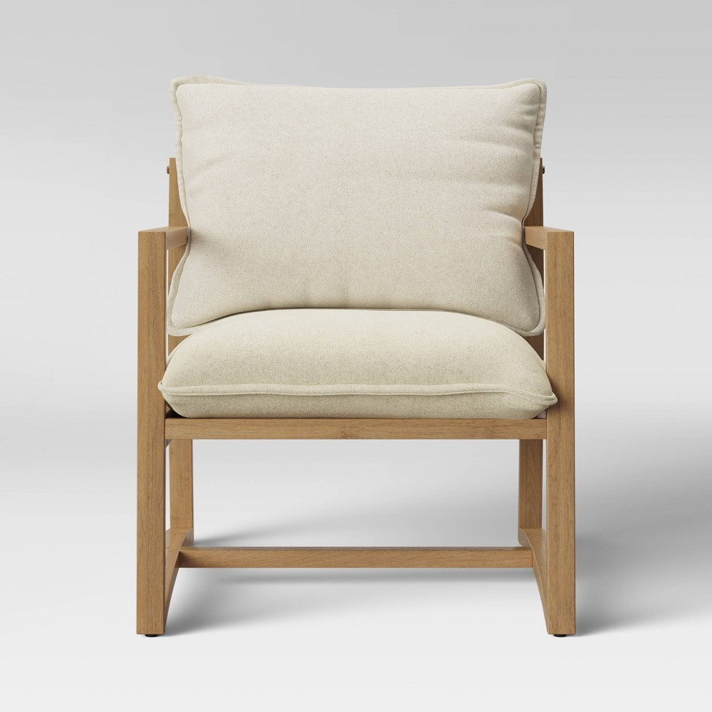 Higgins Sling Arm Chair Natural - Threshold, Ivory