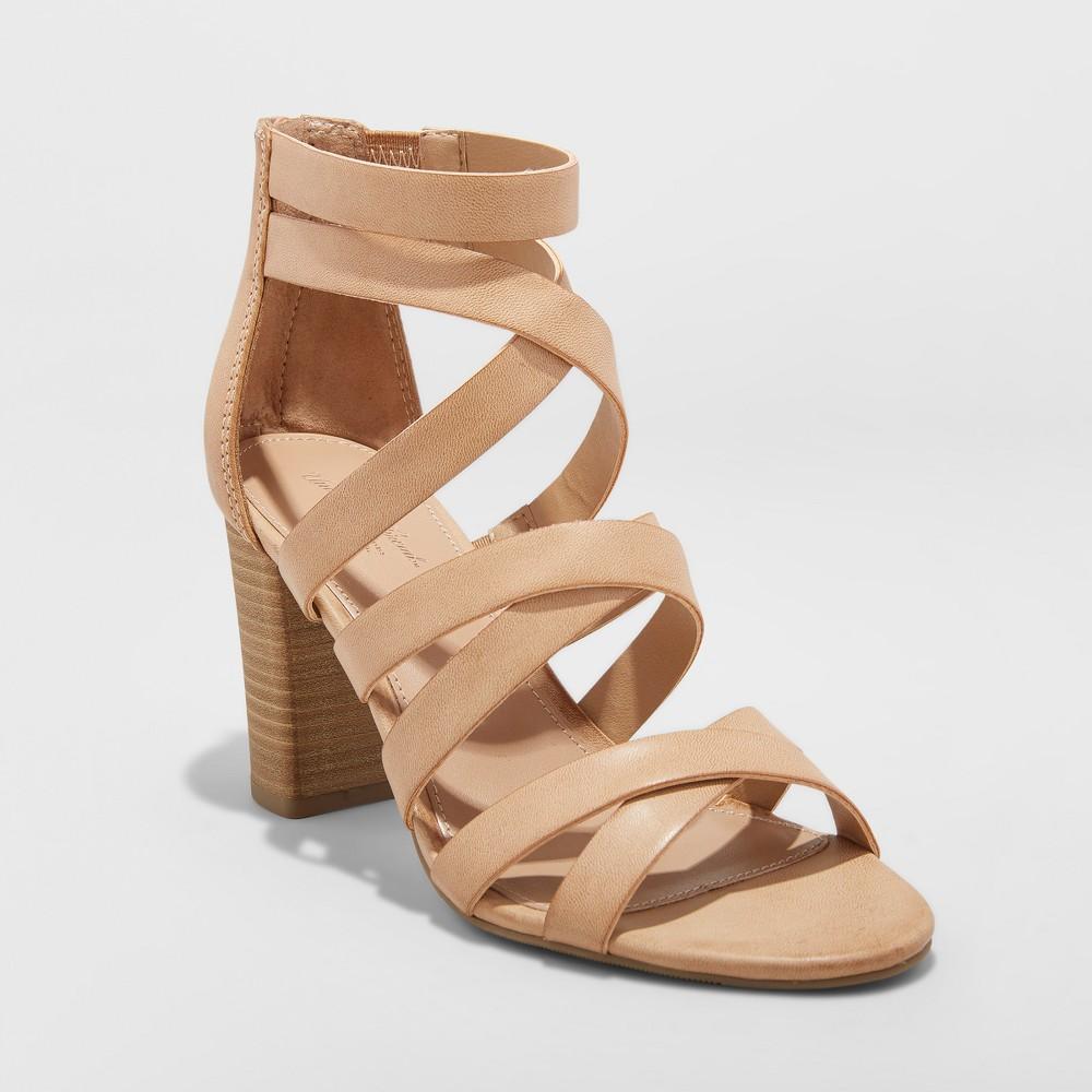Women's Miranda Ankle Strap Sandals - Universal Thread Taupe (Brown) 9