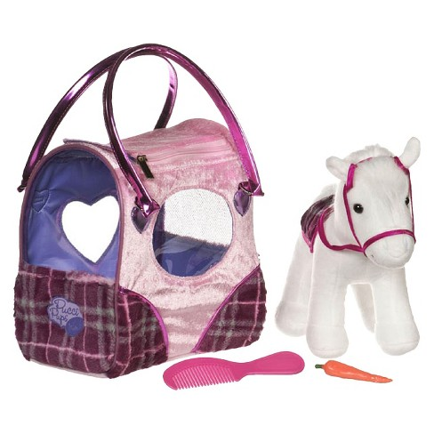 Pucci Pups Pink Plaid Classic Pony Bag - image 1 of 2