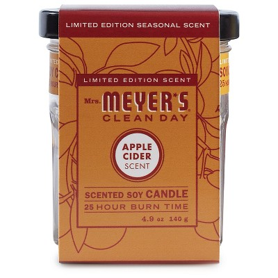 Mrs. Meyer's® Apple Cider Soy Glass Candle - 4.9oz