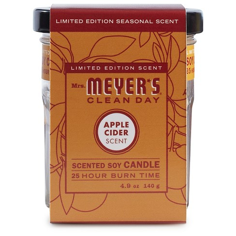 Mrs. Meyer's® Apple Cider Soy Glass Candle - 4.9oz - image 1 of 1