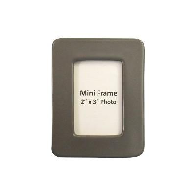 2  x 3  Stoneware Matte Finish Mini Frame Gray - Project 62™