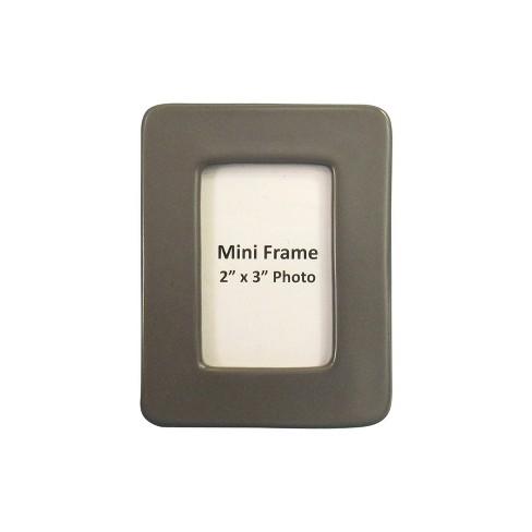"2"" x 3"" Stoneware Matte Finish Mini Frame Gray - Project 62™ - image 1 of 1"