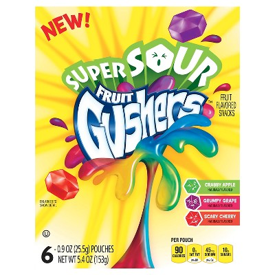 Fruit Snacks: Fruit Gushers Super Sour