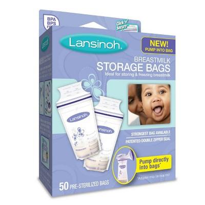 Lansinoh Milk Storage Bag, 6oz (50ct)
