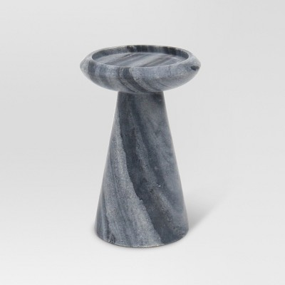 Marble Pillar Candle Holder Large - Gray - Project 62™