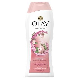 Olay Fresh Outlast Cooling White Strawberry & Mint Body Wash - 22oz