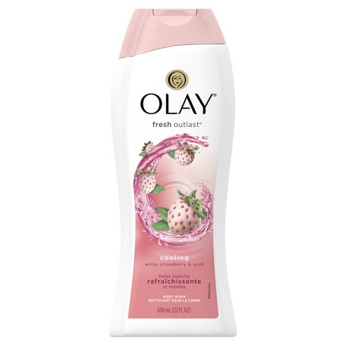 Olay Fresh Outlast Cooling White Strawberry & Mint Body Wash - 22oz - image 1 of 2
