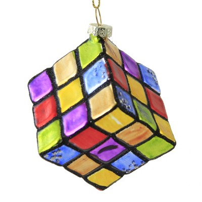 """Holiday Ornament 4.25"""" Rubik's Cube Ornament Toy Game Brain Christmas  -  Tree Ornaments"""