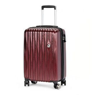 "SWISSGEAR 20"" Energie USB Port PolyCarbonate Hardside Carry On Suitcase - Tawny Port"