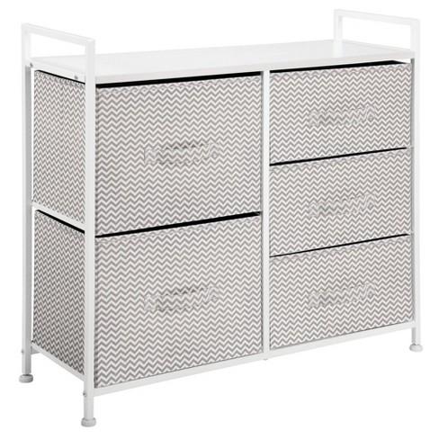 mDesign Wide Dresser Storage Tower Organizer Unit, 5 Drawers - image 1 of 4