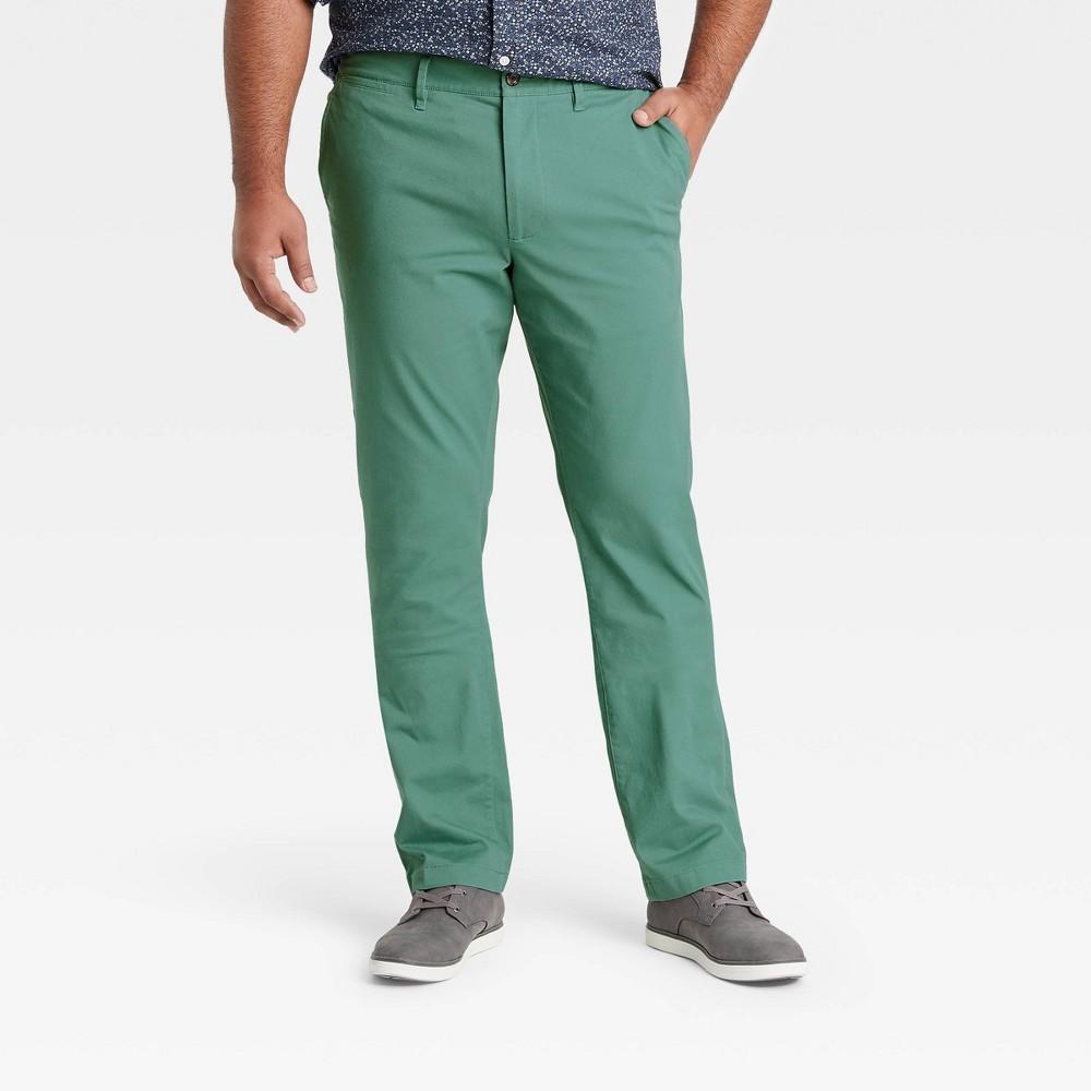 Men 39 S Tall Slim Fit Hennepin Chino Pants Goodfellow 38 Co 8482 Dusky Green 42x36