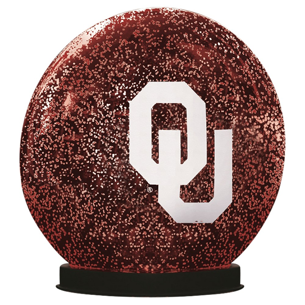 NCAATeam Sports America Indoor Led Glass Disk Oklahoma Sooners