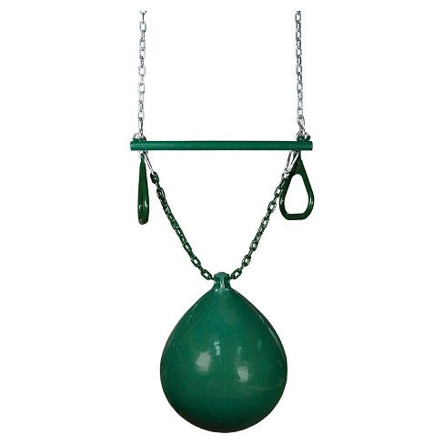 Gorilla Playsets Buoy Ball with Trapeze Bar Swing Set Accessory - Green - image 1 of 2