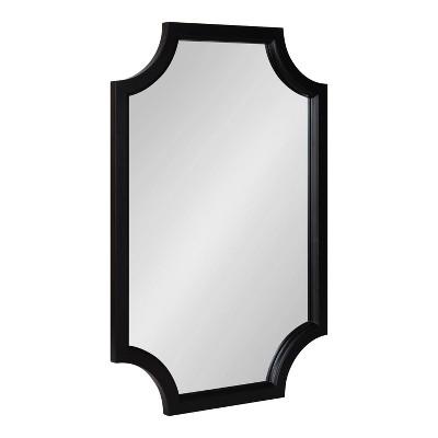 "20"" x 30"" Hogan Scallop Wall Mirror Black - Kate & Laurel All Things Decor"