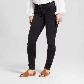 Women's Mid-Rise Curvy Skinny Jeans - Universal Thread™ Black 6 Long