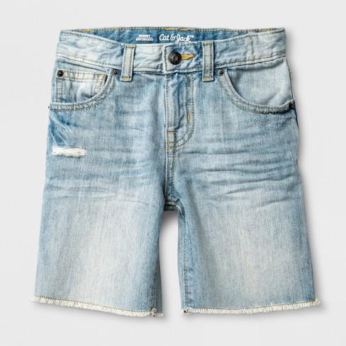 5923c922d319 Toddler Boys  Raw Hem Denim Shorts - Cat   Jack™ Medium Blue. Shop ...