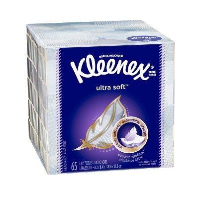 Kleenex Ultra Ultimate Soft Facial Tissue - 65ct
