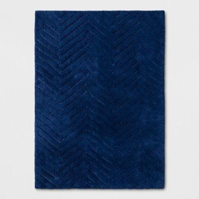 4'x5'5  Chevron Rug Blue - Pillowfort™
