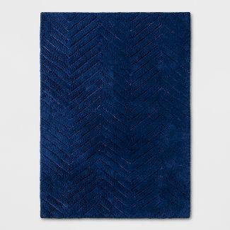 """4x55"""" Chevron Rug Blue - Pillowfort™"""